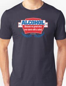 Funny Alcohol Salad T-Shirt Comedy Tees Humor Vintage T-Shirt