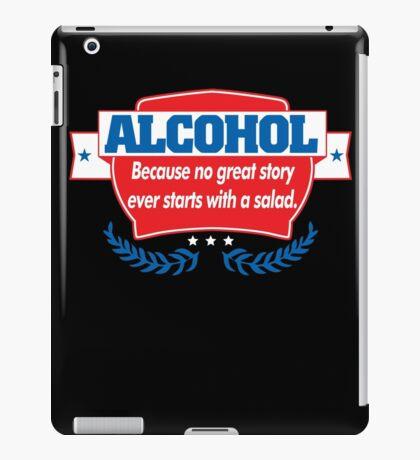 Funny Alcohol Salad T-Shirt Comedy Tees Humor Vintage iPad Case/Skin