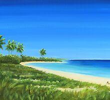 """ Bahia Honda State Park "" Florida Keys USA, Matty Dreadlocks, Folly Beach Artist by Matthew Campbell"