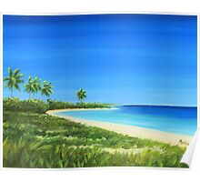 """ Bahia Honda State Park "" Florida Keys USA, Matty Dreadlocks, Folly Beach Artist Poster"