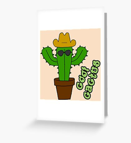 Cool Cactus Greeting Card