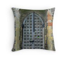 Valle Cruicis Abbey Doorway Throw Pillow