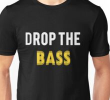 Drop the Bass: Yellow and White Unisex T-Shirt