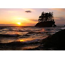 Sunset on the Olympic Peninsula in Washington state Photographic Print