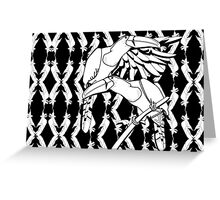 Jungle Toucans- Black & White Greeting Card
