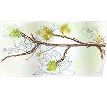 Zen Floral Panel 1 Poster