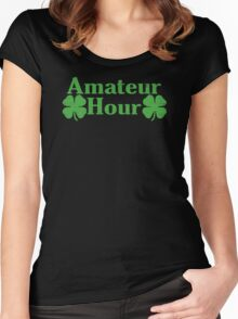 Amateur Hour Funny TShirt Epic T-shirt Humor Tees Cool Tee Women's Fitted Scoop T-Shirt