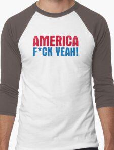 America Yeah Funny TShirt Epic T-shirt Humor Tees Cool Tee Men's Baseball ¾ T-Shirt