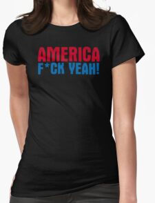 America Yeah Funny TShirt Epic T-shirt Humor Tees Cool Tee Womens Fitted T-Shirt