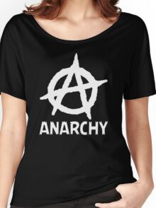 Anarchy Funny TShirt Epic T-shirt Humor Tees Cool Tee Women's Relaxed Fit T-Shirt