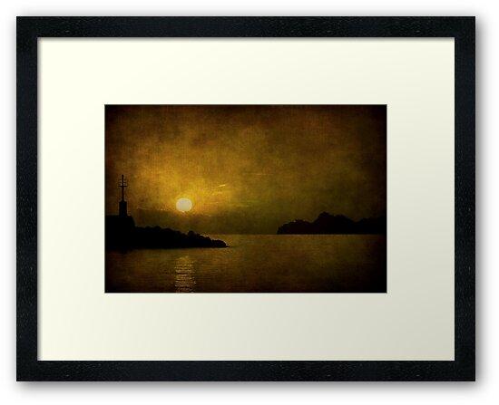 Autumn sunset by Barbara  Corvino