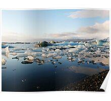 Jokulsarlon, glacier lagoon Poster