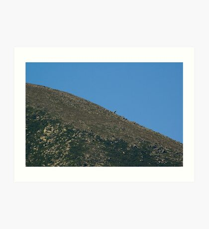 Mt. Katahdin- Moon like Art Print