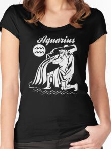 Aquarius Funny TShirt Epic T-shirt Humor Tees Cool Tee Women's Fitted Scoop T-Shirt