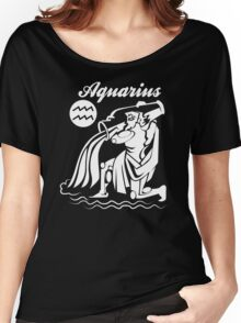 Aquarius Funny TShirt Epic T-shirt Humor Tees Cool Tee Women's Relaxed Fit T-Shirt