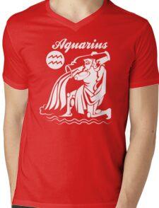 Aquarius Funny TShirt Epic T-shirt Humor Tees Cool Tee Mens V-Neck T-Shirt