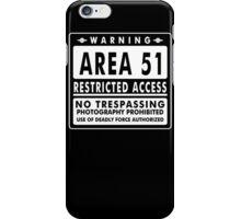 Area 51 Funny TShirt Epic T-shirt Humor Tees Cool Tee iPhone Case/Skin
