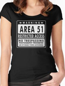 Area 51 Funny TShirt Epic T-shirt Humor Tees Cool Tee Women's Fitted Scoop T-Shirt
