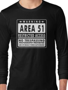 Area 51 Funny TShirt Epic T-shirt Humor Tees Cool Tee Long Sleeve T-Shirt