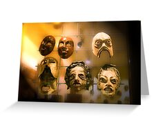 The Masks Greeting Card