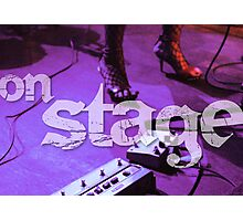 On Stage - Poster Photographic Print