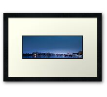 Blue Salt Lake Framed Print