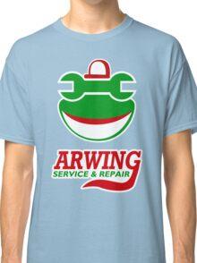 Arwing Service and Repair Funny TShirt Epic T-shirt Humor Tees Cool Tee Classic T-Shirt