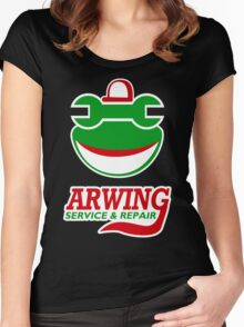 Arwing Service and Repair Funny TShirt Epic T-shirt Humor Tees Cool Tee Women's Fitted Scoop T-Shirt