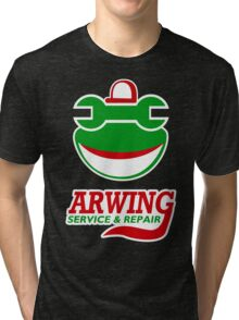 Arwing Service and Repair Funny TShirt Epic T-shirt Humor Tees Cool Tee Tri-blend T-Shirt