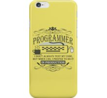 Production Programmer iPhone Case/Skin