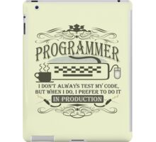 Production Programmer iPad Case/Skin