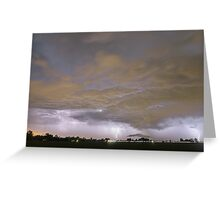 Diagonal Lightning Strikes Greeting Card