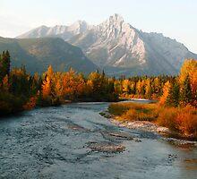 Autumnal sunset by zumi