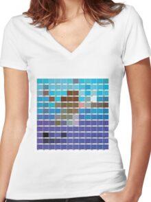 Nirvana NEVERMIND PANTONE  Women's Fitted V-Neck T-Shirt