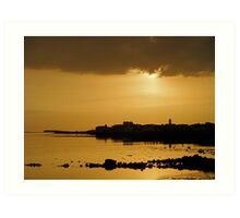 End of Day Over Galway Bay. Art Print