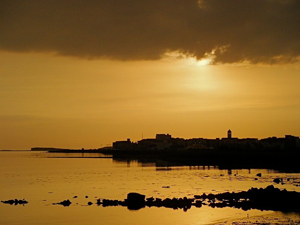 End of Day Over Galway Bay. by Gabrielle  Hope