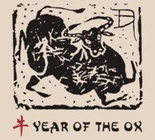 Year of The Ox Abstract by ChineseZodiac