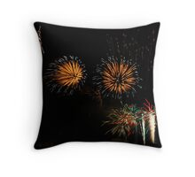 Fireworks at Blackpool Throw Pillow