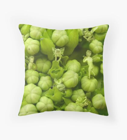 Hydrangea Babies (can you find them all?) Throw Pillow