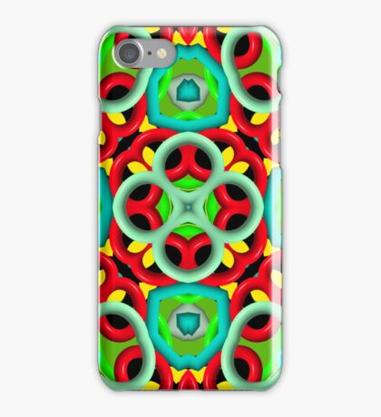 Kaleidoscope abstract colorful pattern iPhone Case/Skin