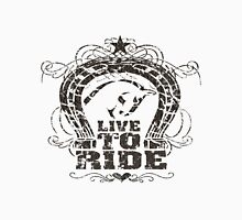 Live to Ride Womens Fitted T-Shirt