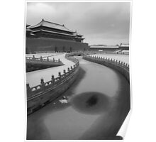 MONOCHROME - Forbidden City in Winter, Beijing, China Poster