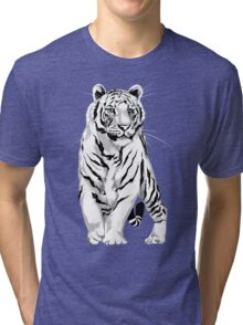 Stately White Tiger Tri-blend T-Shirt