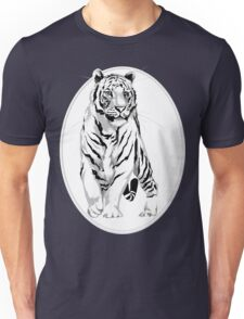 Framed Stately White Tiger Unisex T-Shirt