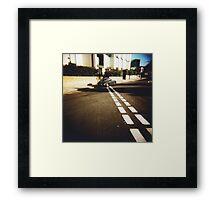 white line fever Framed Print
