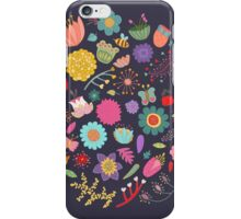 Bright Colored Flowers Floral Design Pattern Background iPhone Case/Skin
