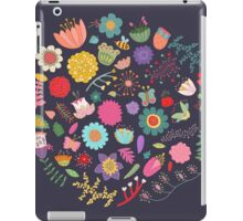 Bright Colored Flowers Floral Design Pattern Background iPad Case/Skin