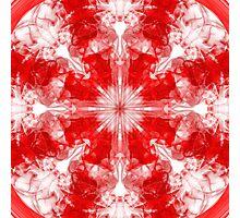Smokey Red & White Kalid 2 Photographic Print