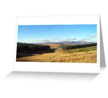 a sprawling Botswana landscape Greeting Card