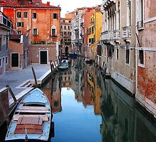 Canals of Venice (Throw Pillows and Bags) by Brad Spencer